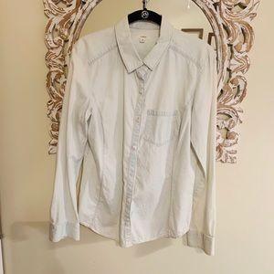 Caslon button down chambray shirt